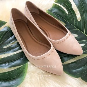 Frye Pointed Toe Suede Ballet Flats